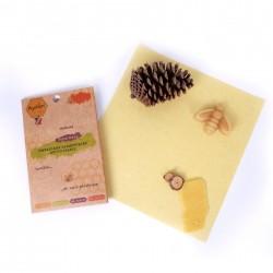 Bee wrap en coton GOTS -...
